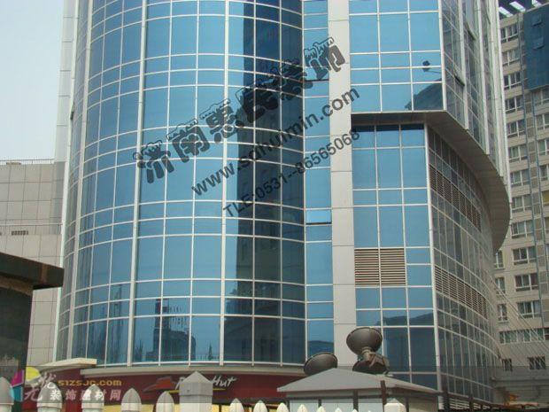 办公楼装修 玻璃幕墙 济南惠民建筑装饰设计工程有限公司作品 效